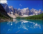 Canada's Moraine Lake, in Banff National Park—a good destination for a first journey abroad