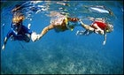Big Dippers: The author and his sons snorkeling the Big Island's Kohala Coast