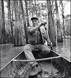 Swamp thing: Schoeffler gets in touch with his paddlin' self on Lake Martin, a few miles northeast of Lafayette.