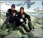 Ann Bancroft and Liv Arnesen in Antarctica