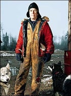 Polar sage Will Steger at his wilderness homestead, north of Ely, Minnesota, October 2003