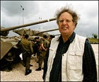Migration nation: Yossi Leshem, generally considered the father of migratory-bird studies in Israel, at the Latrun Tank Museum.