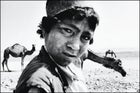 "Ajnabi Gul (""Strange Flower""), a young camel herder, outside Herat"
