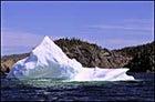 Canada, on the rocks: a sunlit berg off the Newfoundland coast