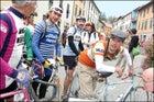 Eroica riders in Gaiole
