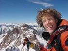 Ralston atop Colorado's Mount Eolus, March 2005.