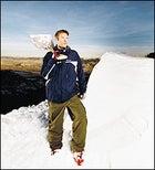 Go ahead and jump: Jon Klaczkiewicz and his kicker, built for Teton Gravity Research outside Jackson, Wyoming