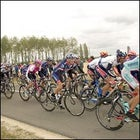 Armstrong finishes with the peloton after crashing in Stage 6