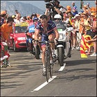 Armstrong narrowly bested Ivan Basso for a Stage 13 victory