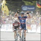 Armstrong wins Stage 15 and takes the overall lead