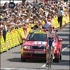David Moncoutie celebrates his Stage 12 win Thursday.