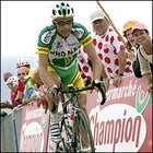 Pereiro atop Col d'Aubisque en route to winning the stage today in Pau