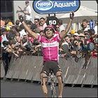 Giuseppe Guerini winning in Le Puy-en-Velay