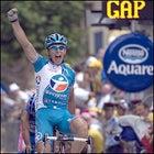 Frenchman Pierrick Fedrigo outsprints Italian Salvatore Commesso to win Stage 14.