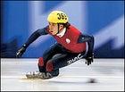 Ohno's medal-winning 1,500-meter Olympic run