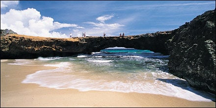 Beach in the Netherland Antilles