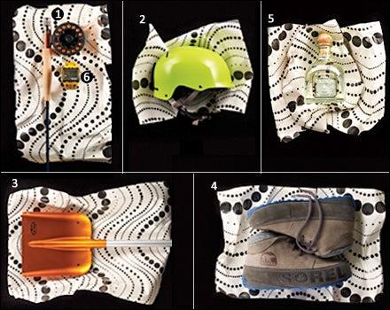 Redington Minnow Kid's Outfit, Giro Revolver, BCA Arsenal Shovel With 240 Probe, Sorel Fairbanks Drift, Patron Silver, Timex Expedition WS4