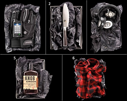 Garmin Nuviphone G60, Shun Classic Ultimate Utility Knife, TAG Heuer 43mm Aquaracer Automatic, Bose QuietComfort 15, Knob Creek, Filson Mackinaw Cruiser, Marmot Spring Gloves