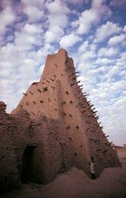 Sticks and stones: an 11th-century mud-and-brick mosque in the Niger River trading port of Djénné, Mali.