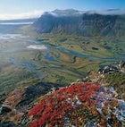 Delta down: views from above in Sarek National Park, Lapland, Sweden.