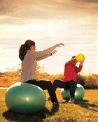 Medicine-Ball Toss on Balance Ball