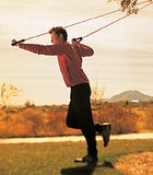 Start Position - One Legged Overhead Tubing Twist