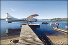 This way to paradise: a dock at Nueltin Fly-In Lodge