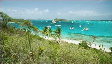 The endless blues found in the Grenadines