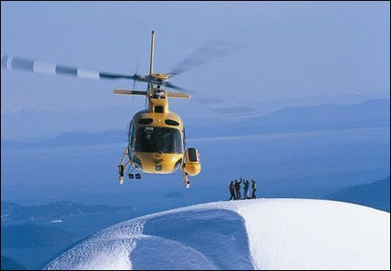 YOUR RIDE IS HERE: Reaching new heights on the mega-yacht heli-skiing tour