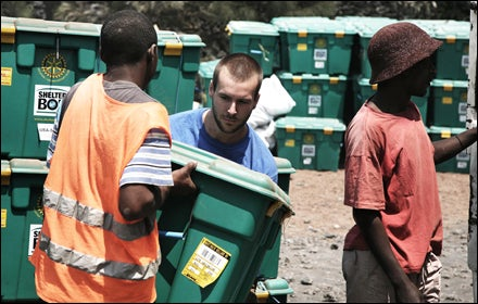 ShelterBoxes delivered in the Democratic Republic of Congo