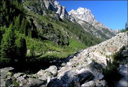 Mountaineering in Jackson, Wyoming