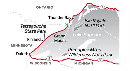 Duluth, MN and Michigan's UP Road Trip Map