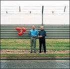 Bertrand Piccard and Brian Jones at Heathrow Airport, London, July 25, 2002.