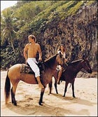 Easy riders; taking a tour of Survival Beach, near Rincón