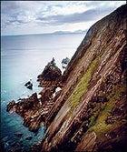 Rock on: a coastal vista along the trail