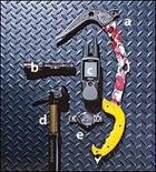 Grivel's X Monster Ice Tool, Surefire's U2 Ultra Flashlight, Garmin's Rino 530 GPS, Maverick's Speedball Seatpost, and Tag Heuer's Link Automatic Chronograph Watch