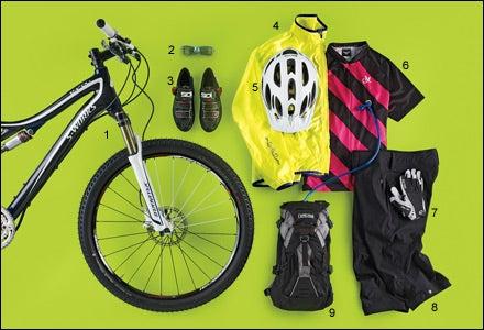 Women's mountain biking gear