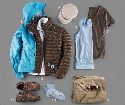Women's hiking gear
