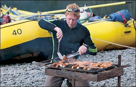 Smoked salmon on the Nass.