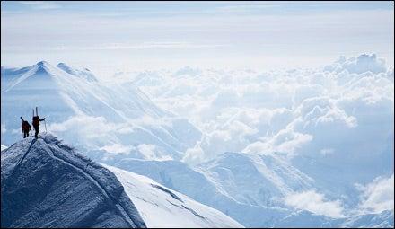 Skiers on Denali