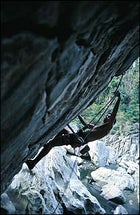 Cliff hanger: a 5.12 at Wawa Gorge in Montalban.