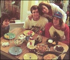Family at the dining table
