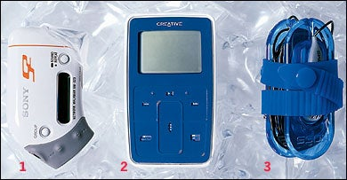 Sony Network Walkman NW-S23, Creative Zen Micro, & KOSS P-15 Headphones