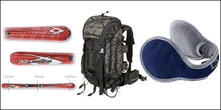 Volkl AC4 Titanium, Da Kine Blade Pack, and 180s Storm Shell Earwarmers