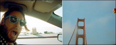 David de Rothschild & Golden Gate Bridge under blue skies