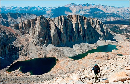 The route up Mount Whitney