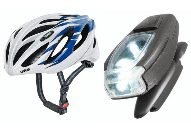 Uvex Boss Race Helmet and LED Lights
