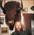 River guide Carl Ober and a lot of bull