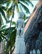 Tiki at Pu'uhonua O Honaunau National Historical Park