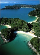 Able-bodied waters in New Zealand's Abel Tasman National Park